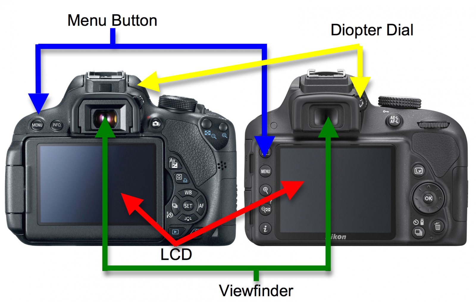 Common Button Placement on DSLR