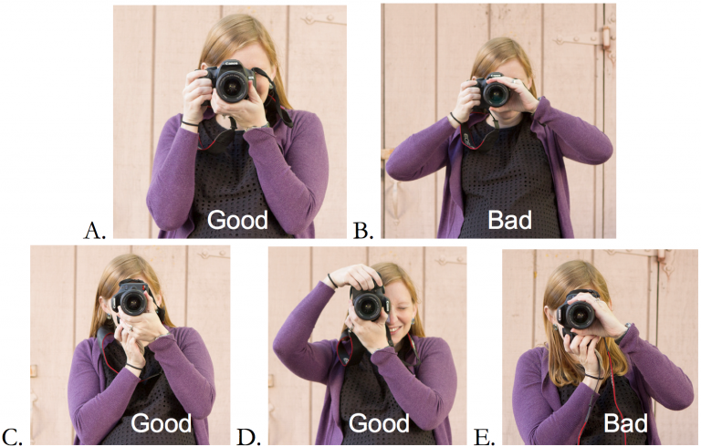 How to hold a dSLR correctly