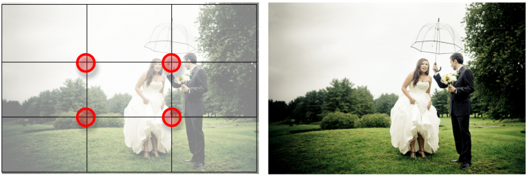 Rule of Thirds Grid. Key elements should fall on lines and line intersections.