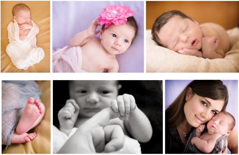 Take a variety of shots and angles of the baby.